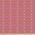 "Freespirit Night Music By Amy Butler 108"" Quilt Back Music-Temple Tiles-Berry"