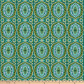 "Freespirit Night Music By Amy Butler 108"" Quilt Back Music-Temple Tiles-Fern"