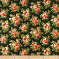 Christmas Memories Roses Metallic Green