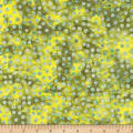Bali Dots Great Batiks Lemon Lime