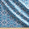 Kanvas Blue Brilliance Shimmer Diamonds Metallic White