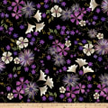 Kanvas Enchanted Garden Floral Black Metallic