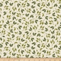 Kanvas Enchanted Leaves Cream Metallic