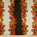 Autumn Leaves Stripe Metallic Multi