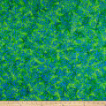 Anthology Batiks Flower Wallpaper Green