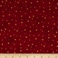 Stof Amazing Stars Metallic Gold/Dark Red