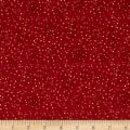 Stof Amazing Stars Medium Dots Metallic Gold/Dark Red