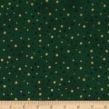 Stof Amazing Stars Metallic Gold/Dark Green