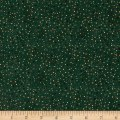 Stof Amazing Stars Medium Dots Metallic Gold/Dark Green