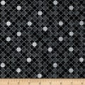 Stof Amazing Stars Set Stars Metallic Silver/Black