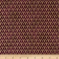 Stof Fabrics Denmark Starlight Grid On Metallic Gold/Royal Burgundy