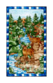 "Mosaic Forest 24"" Panel Blue"