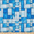 Mosaic Forest Stained Glass Blue