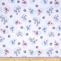 Polar Pals 2 Tossed Animals Flannel White