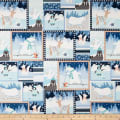 Snow Happy Patchwork Blue