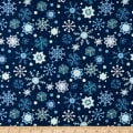 Snow Happy Snowflakes Navy