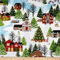 Christmas Village Scenic White