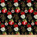 Christmas Village Ornaments Black