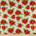 Christmas Village Poinsettia Cream