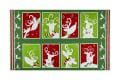 Peppermint Reindeer Blocks Green/Red