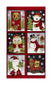 "Winter Greetings Blocks 24"" Panel Red"