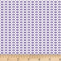 Stof Dot Mania Ovals Ivory/Purple