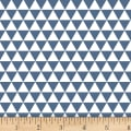 Stof Duo Mini Triangles Blue