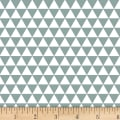 Stof Fabrics Denmark Duo Mini Traingles Teal