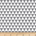 Stof Fabrics Denmark Duo Mini Triangles Grey/Ivory