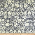 Liberty Fabrics Interiors November Linen Indigo