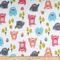 Michael Miller Bigfoot Boogie Flannel Bigfoot Boogie Pink