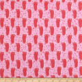 Michael Miller Bigfoot Boogie Flannel Bigfoot Print Pink