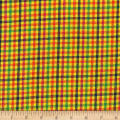 Rustic Woven Check Yllw/Grn/Orng/Fuchs