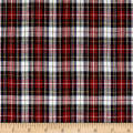 Classic Yarn-dyed Tartan Plaid White/Red Multi