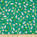 QT Fabrics Mermaid Merriment Fish & Shells Teal