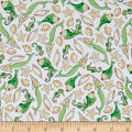 QT Fabrics Mermaid Merriment Fish & Shells White