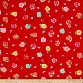 Ink & Arrow June Bee Penelope Tossed Floral Red
