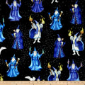 QT Fabrics Spellbound Wizards Black