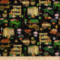 QT Fabrics A Gardening We Grow Garden Carts & Sheds Black