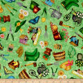 QT Fabrics A Gardening We Grow Everything Gardening Med. Green