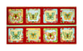 "All A Flutter Butterfly Picture Patches 24""  Panel Tomato"
