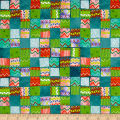 Alpaca Picnic Blanket Patches Teal