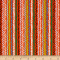 Alpaca Picnic Triangle Stripe Orange