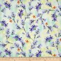 QT Fabrics Belle Floral Branches Jade