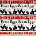 """Fowl Play Chick Feed(Running 10"""" Stripe) Off White"""