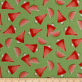 QT Fabrics  Santoro Kori Kumi Melon Drop Watermelon Green