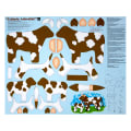 "QT Fabrics Sew N Go IV Udderly Adorable Craft 36"" Panel Brown"
