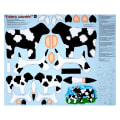 "QT Fabrics Sew N Go IV Udderly Adorable Craft 36"" Panel Black"