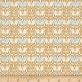 QT Fabrics Splendid Swans Scroll Geo Cream
