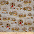 QT Fabrics Woodland Dream Winter Vignettes Allover Light Taupe